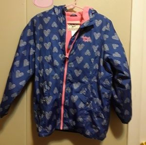 OshKosh Girls Winter Jacket with Hood Pink/ Blue M